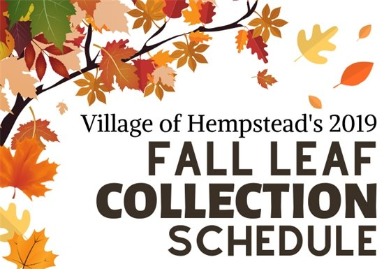 fall leaf collection schedule
