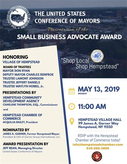 Small Business Advocate Award Flyer