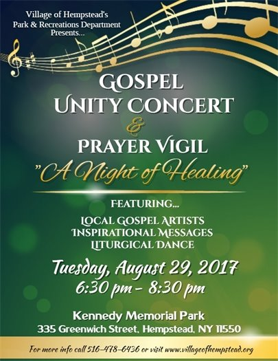 "Gospel Unity Concert & Prayer Vigil ""A Night of Healing"""