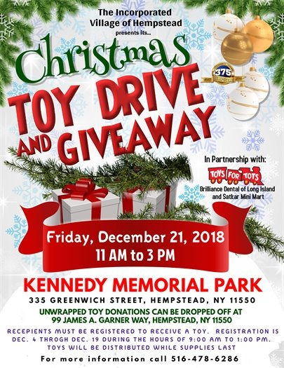 Toy Drive and Giveaway