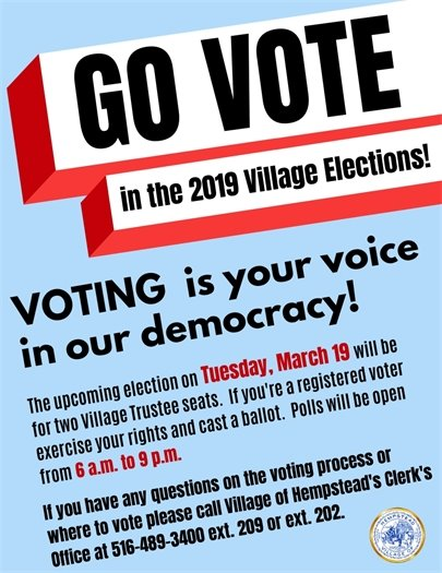 Go Vote in the 2019 Village Election