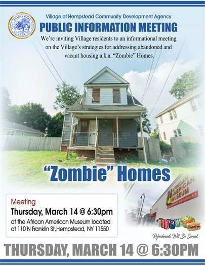 Zombie Homes Public Information Meeting
