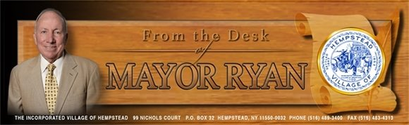 From the Desk of Mayor Ryan