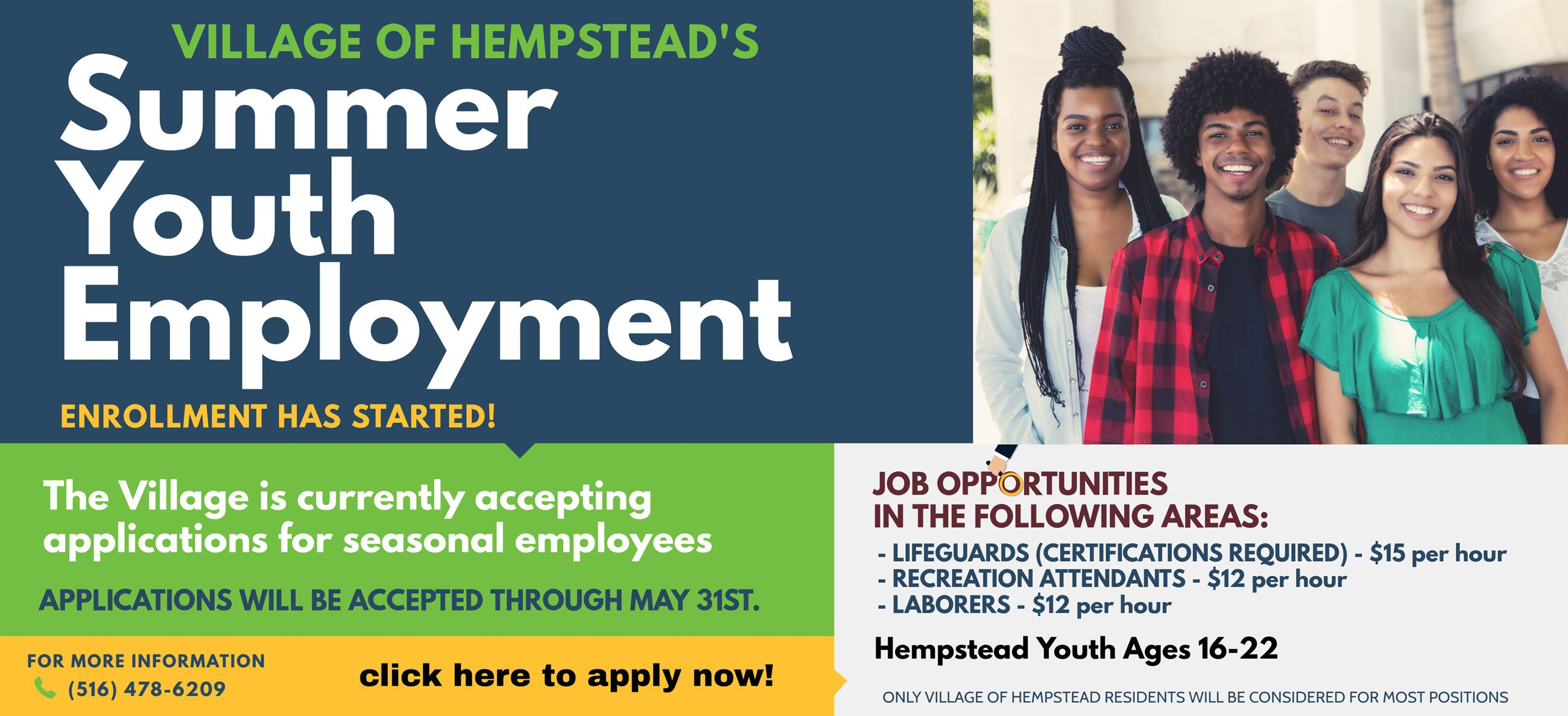 Summer Youth Employment 2019 WEB BANNER