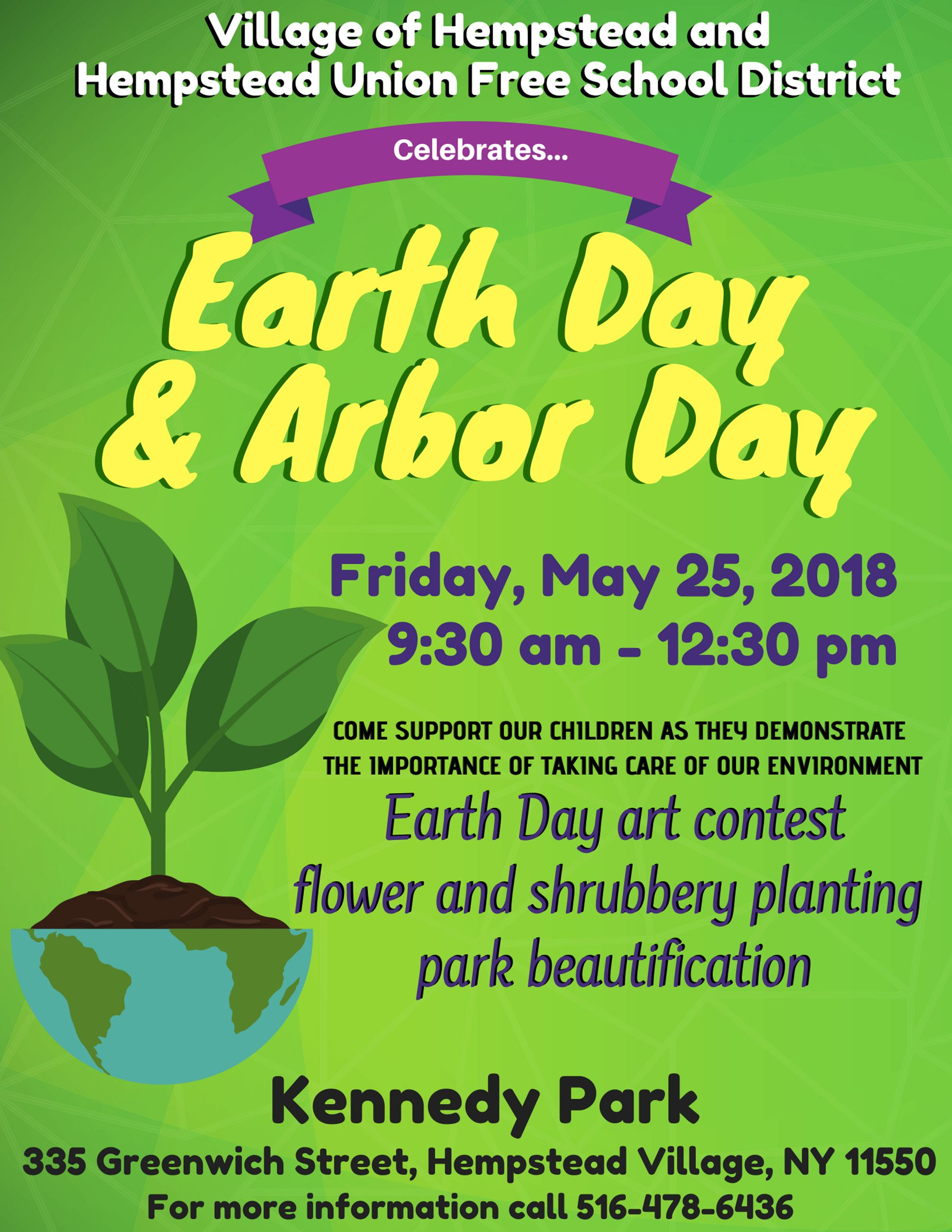 earth and arbor day 2018
